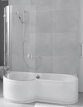 Bette Cora Ronda Comfort Wall Installation Shower Bath 1700 x 900mm LH