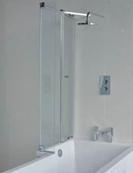 Britton Cleargreen 820 x 1450mm EcoSquare Left Hand Bathscreen
