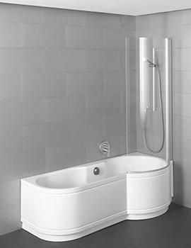 Bette Cora Comfort Corner Super Steel Shower Bath 1800 x 900mm LH