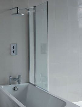 Britton Cleargreen 850 x 1450mm Hinged Bathscreen With Fixed Panel