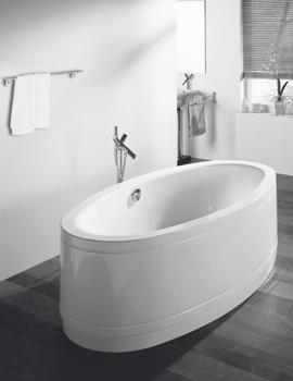 Bette Home Oval Comfort Freestanding Super Steel Bath 1800 x 1000mm