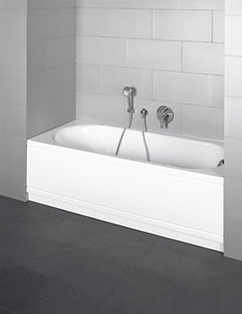 Bette Pur Comfort Niche Super Steel Bath 1800 x 800mm With Left Hand Drain