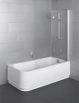 Bette Set Comfort Corner Super Steel Shower Bath 1500 x 750mm LH