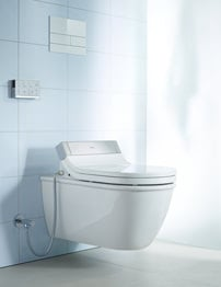 Duravit Darling New Wall Mounted Toilet With SensoWash Toilet Seat