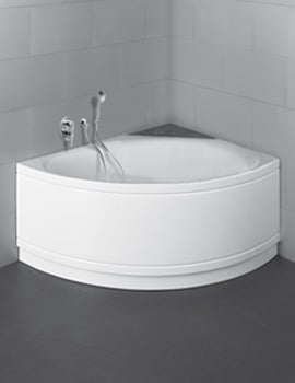 Bette Pool III Comfort Corner Super Steel Bath 1600 x 1130mm Left Hand