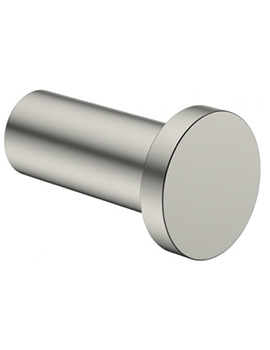 Crosswater Mike Pro Brushed Stainless Steel Finish Single Robe Hook