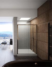 Beo Designer Sliding Shower Door 1000 x 1850mm