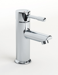 Beo Slip Chrome Single Lever Mono Basin Mixer Tap With Pop-Up Waste