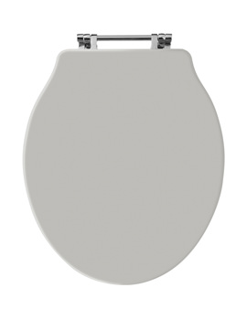 Old London Stone Grey Wooden Toilet Seat For Chancery Toilets