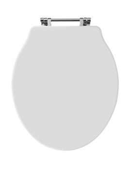 Old London White Wooden Toilet Seat For Chancery Toilets