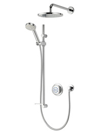 Aqualisa Quartz Digital Divert Concealed Shower And Fixed Head - Gravity-fed