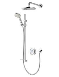 Aqualisa Quartz Digital Divert Concealed Shower And Fixed Head - HP Combi