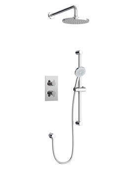 Britton Thermostatic 2 Way Diverter Valve With Shower Head And Kit