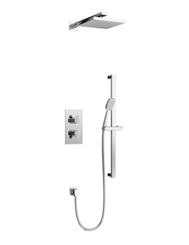 Britton Concealed Thermostatic Valve With Fixed Head And Slide Bar Kit