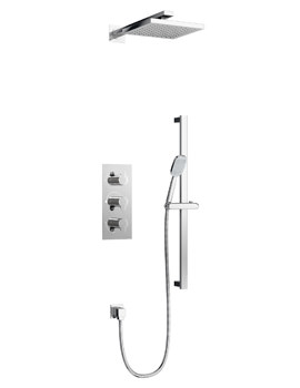 Britton 3 Control Dual Outlets Thermostatic Valve With Shower Set