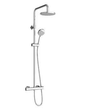 Britton Round Exposed Thermostatic Shower Valve With Kit