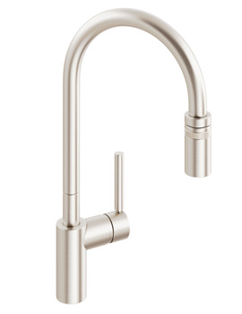 Abode Ratio Single Lever With Pull Out Kitchen Tap Brushed Nickel