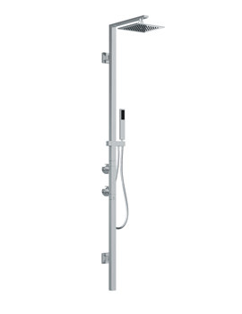Abode Euphoria Square Wall Mounted Thermostatic Shower Post