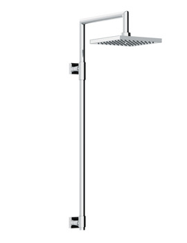 Abode Euphoria Square Exposed Rigid Riser With Square Shower Head