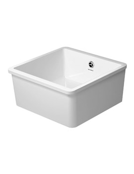 Duravit Vero White 50 Undercounter 445mm Kitchen Sink For Hand Operation
