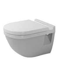 Duravit Starck 3 360mm Wall Mounted Toilet With Seat And Cover