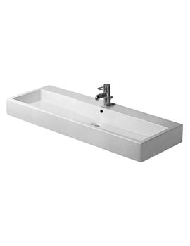 Duravit Vero White 1200 x 470mm 1 Tap Hole Grinded Washbasin
