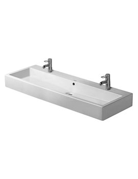 Duravit Vero White 1200 x 470mm 2 Tap Hole Grinded Washbasin