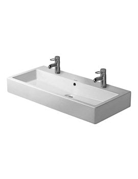 Duravit Vero White 1000 x 470mm 2 Tap Hole Grinded Washbasin