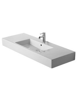 Duravit Vero White 1250 x 490mm 1 Tap Hole Furniture Washbasin