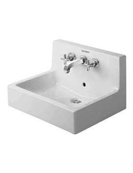 Duravit Vero White 600 x 470mm 3 Tap Hole Washbasin