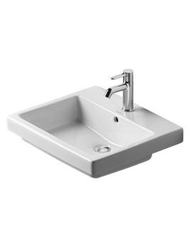 Duravit Vero White 550 x 465mm 1 Tap Hole Counter Top Washbasin