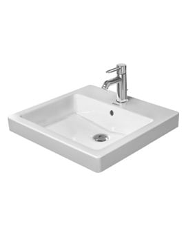 Duravit Vero White 500 x 465mm 1 Tap Hole Counter Top Washbasin
