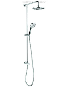 Crosswater Fusion Shower Diverter With Fixed Head And Handset Kit
