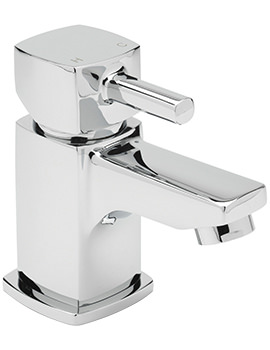 Sagittarius Axis Cloakroom Basin Mixer Tap With Sprung Waste