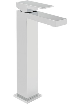 Sagittarius Blade Extended Monobloc Basin Mixer Tap With Sprung Waste
