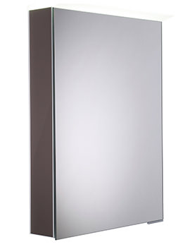 Roper Rhodes Virtue Gloss Dark Clay LED Mirror Cabinet