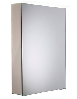Roper Rhodes Virtue Gloss Warm Grey LED Mirror Cabinet