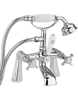 Sagittarius Churchmans Deck Mount Bath Shower Mixer Tap With No.1 Kit Chrome