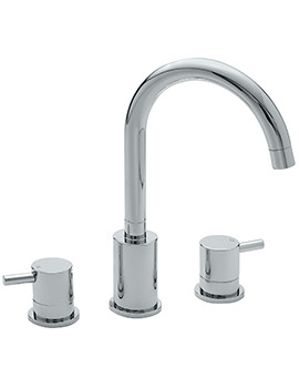 Sagittarius Ergo 3 Hole Deck Mounted Bath Filler Tap