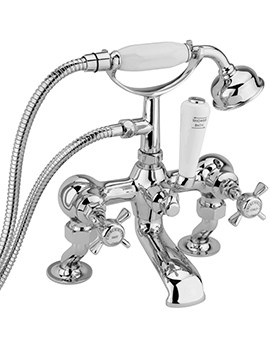 Sagittarius Churchmans Deluxe Deck Bath Shower Mixer Tap With Kit Chrome