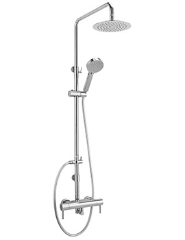 Sagittarius Ergo Exposed Thermostatic Shower Valve With Rigid Riser Kit