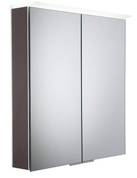 Roper Rhodes Visage Gloss Dark Clay LED Mirror Cabinet
