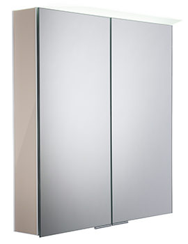 Roper Rhodes Visage Gloss Warm Grey LED Mirror Cabinet