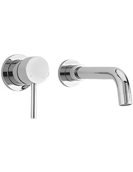 Sagittarius Ergo 2 Hole Wall Mounted Basin Mixer Tap