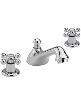 Sagittarius Fantasy 3 Hole Deck Mounted Basin Mixer Tap With Pop-Up Waste