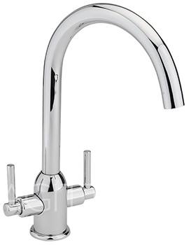 Sagittarius Kinetic Chrome Monobloc Kitchen Sink Mixer Tap