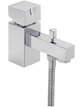 Sagittarius Matisse Deck Mounted Monobloc Bath Shower Mixer Tap With Kit