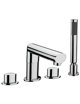 Sagittarius Oveta 4 Hole Deck Mounted Bath Shower Mixer Tap