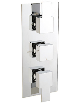 Sagittarius Navona Concealed Thermostatic Shower Valve With 3 Way Diverter