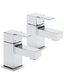 Sagittarius Navona Pair Of Bath Taps